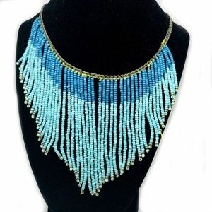 Handmade Turquoise Beaded Tribal Native Necklace